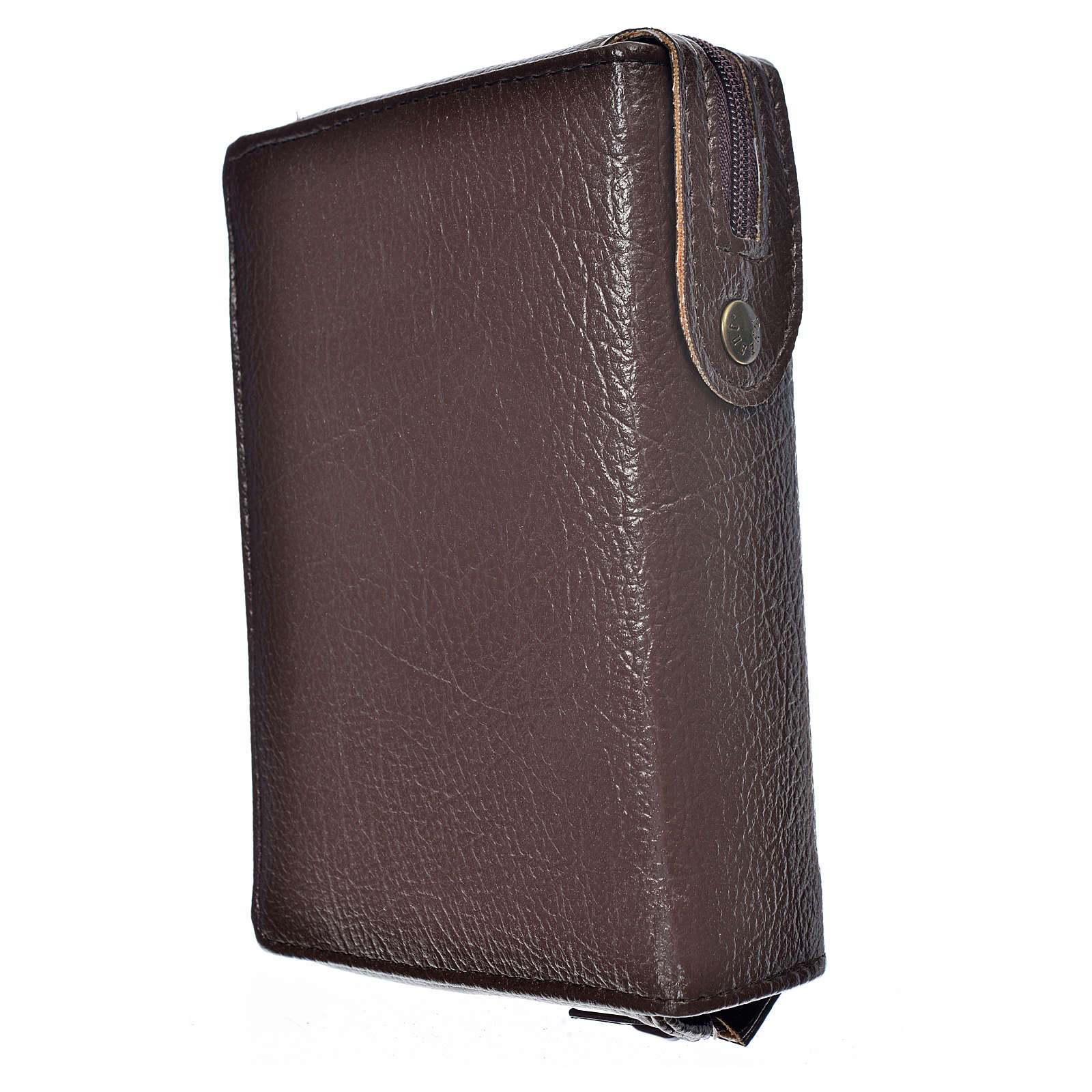 Funda Sagrada Biblia CEE ED. Pop. marrón oscuro simil cuero 4