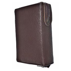Funda Sagrada Biblia CEE ED. Pop. marrón oscuro simil cuero s2