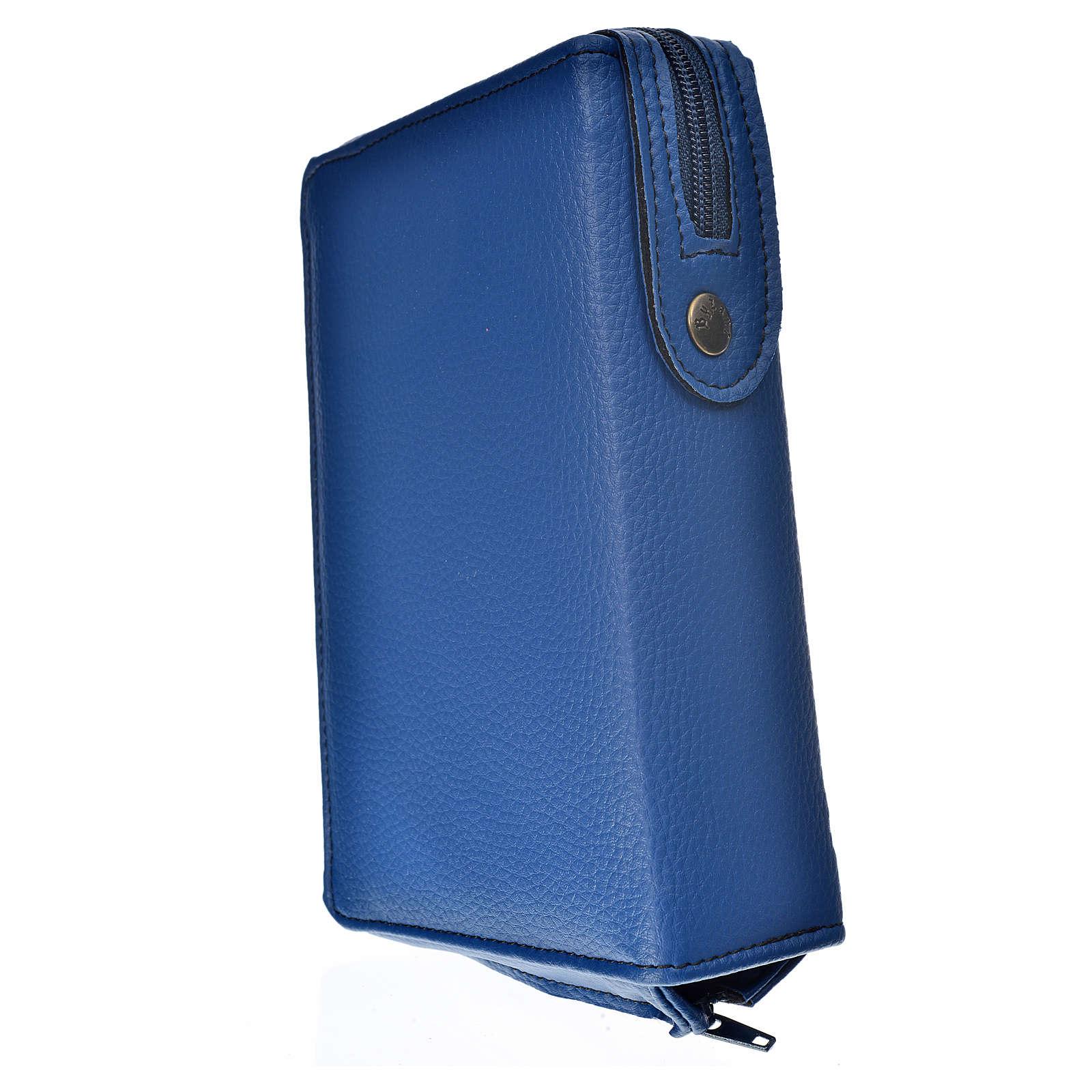 Funda Sagrada Biblia CEE ED. Pop. azul simil cuero S. Familia 4