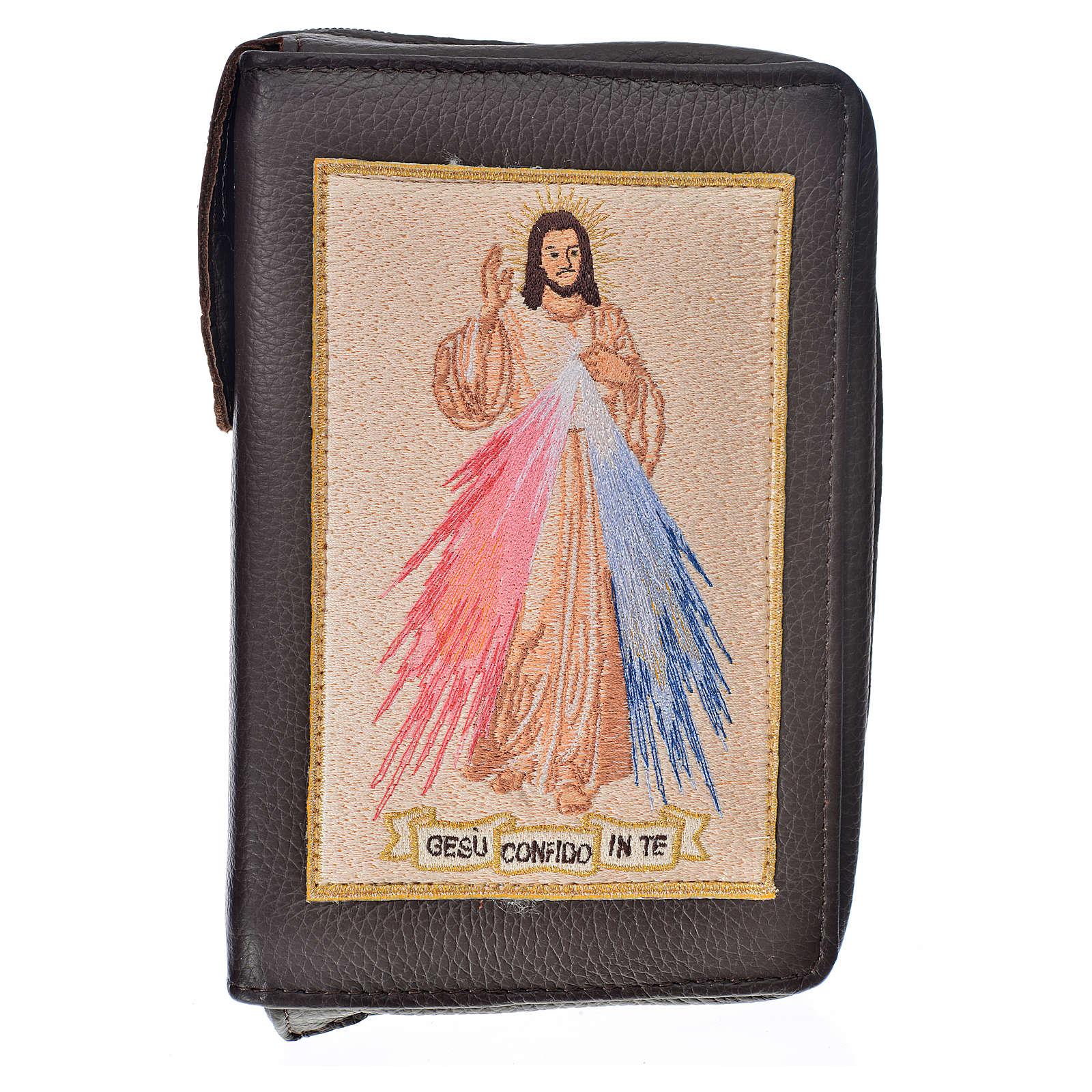 Funda Sagrada Biblia CEE ED. Pop. marrón oscuro simil cuero D. M 4