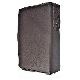 Funda Sagrada Biblia CEE ED. Pop. marrón oscuro piel Virgen s2