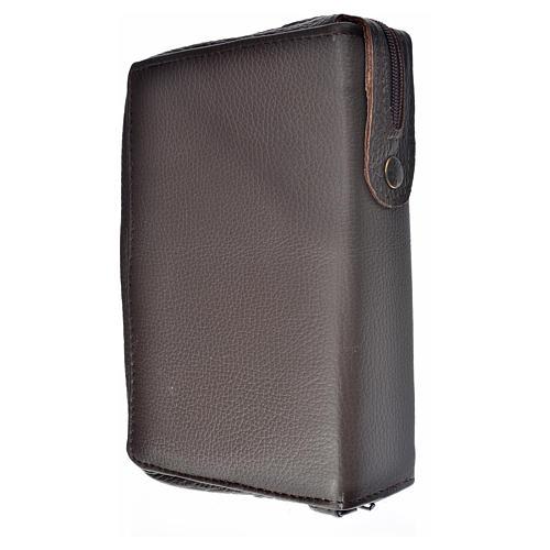 Funda Sagrada Biblia CEE ED. Pop. marrón oscuro piel Virgen 2