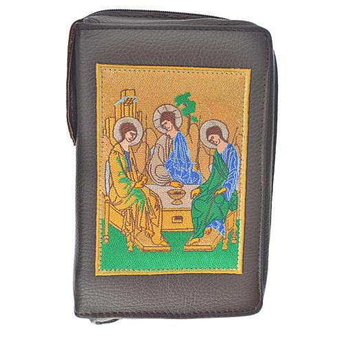 Funda Sagrada Biblia CEE ED. Pop. marrón oscuro cuero S.Trinidad 1