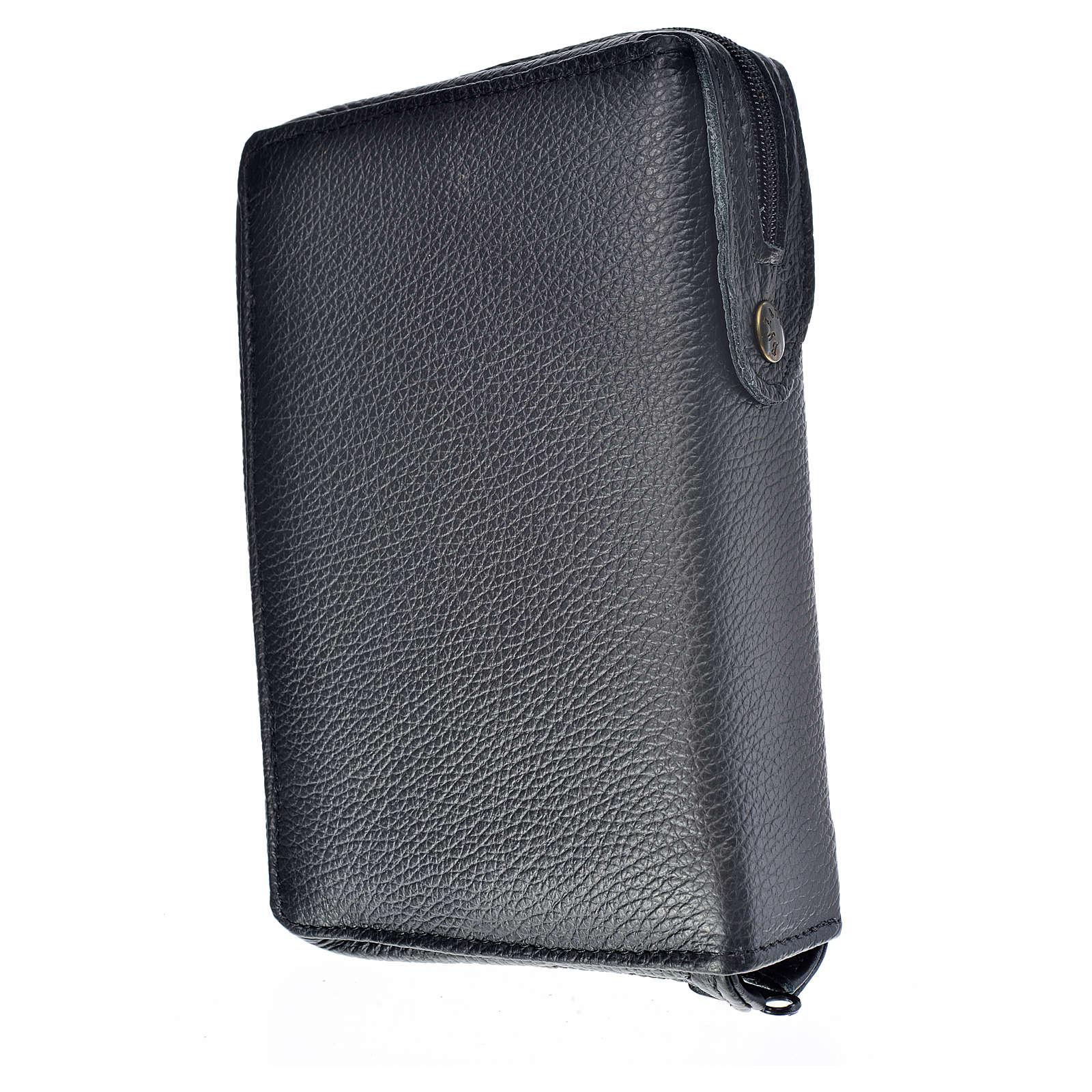 Funda Sagrada Biblia CEE ED. Pop. cuero negro Sagrada Familia 4