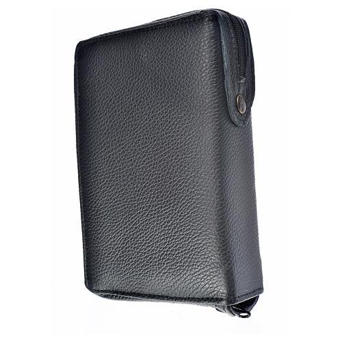 Funda Sagrada Biblia CEE ED. Pop. cuero negro Sagrada Familia 2