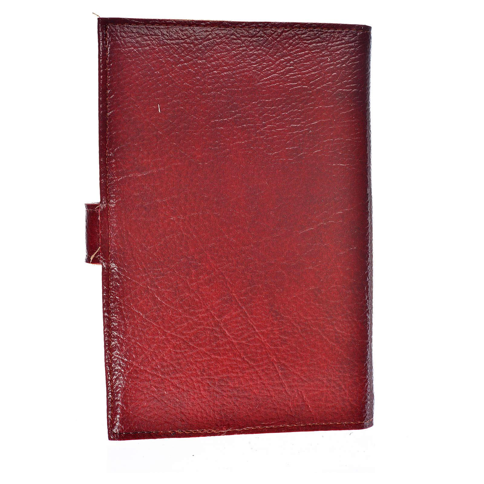 Funda Sagrada Biblia CEE ED. Pop. simil cuero burdeos 4