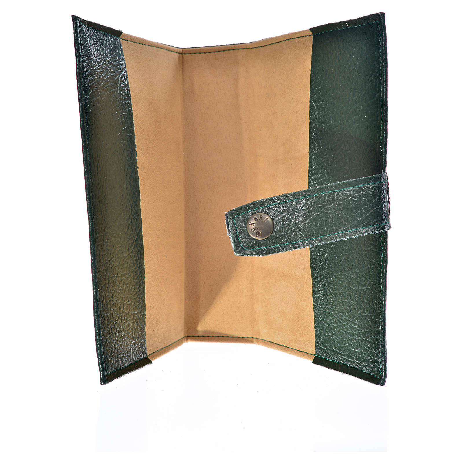 Funda Sagrada Biblia CEE ED. Pop. V. Ternura simil cuero verde 4
