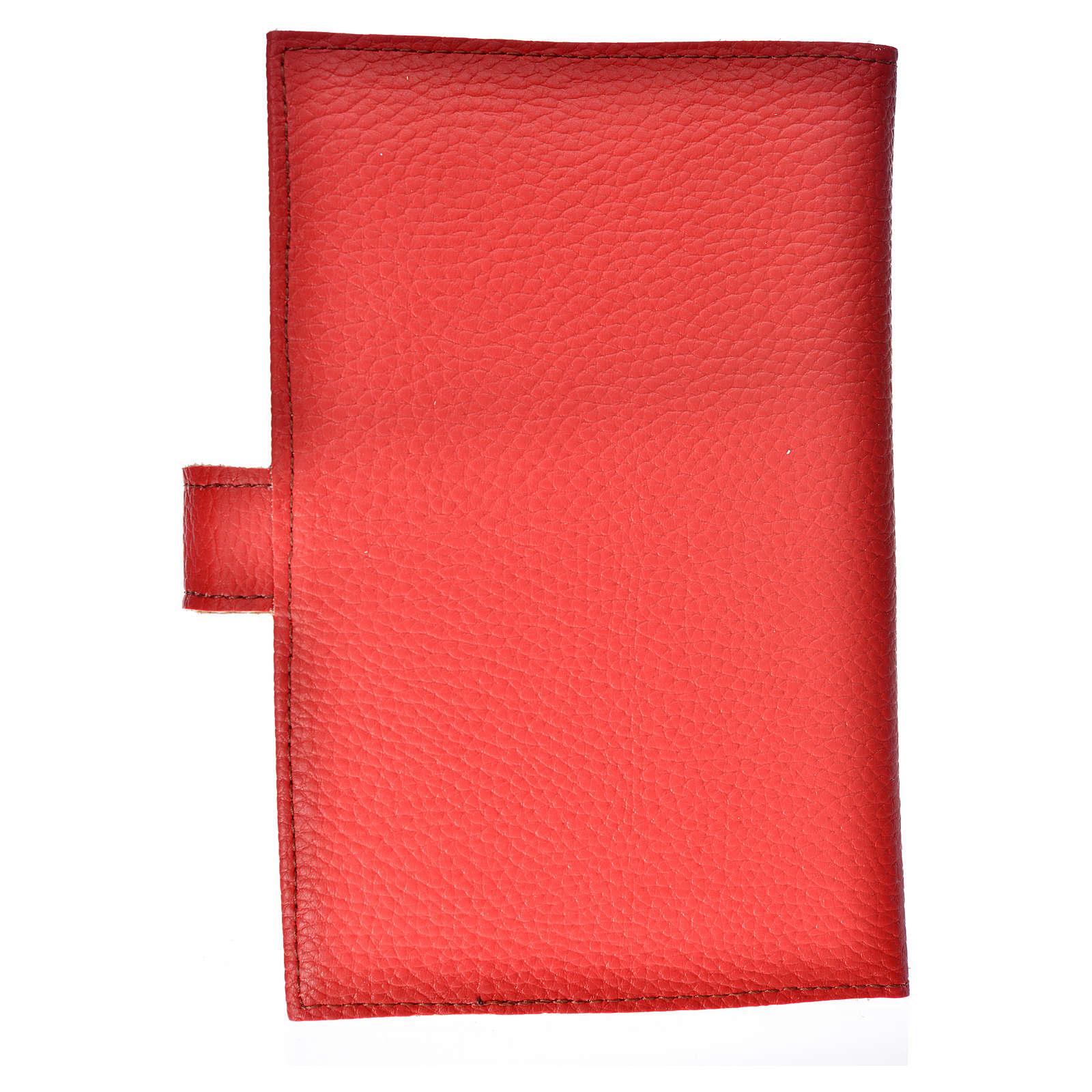 Funda Sagrada Biblia CEE ED. Pop. Virgen simil cuero roja 4
