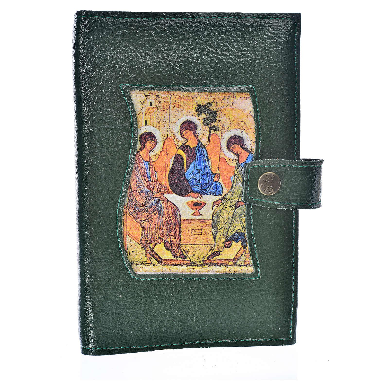 Funda Sagrada Biblia CEE ED. Pop. verde simi cuero Trinidad 4