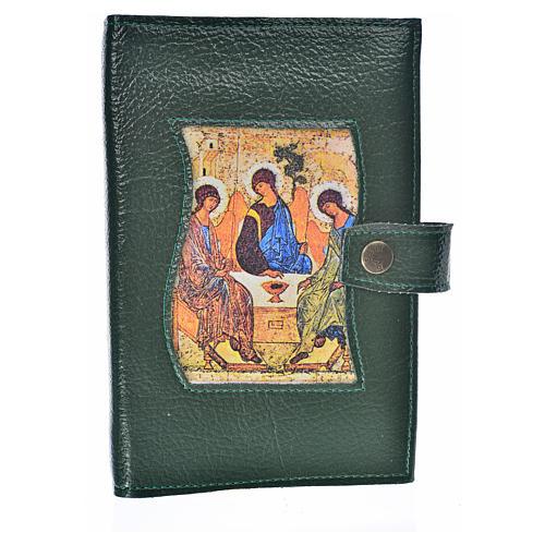 Funda Sagrada Biblia CEE ED. Pop. verde simi cuero Trinidad 1