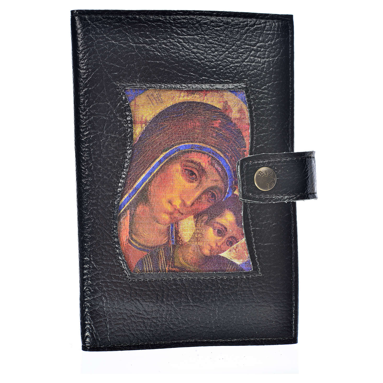 Funda Sagrada Biblia CEE ED. Pop. negro simil cuero Virgen Kiko 4