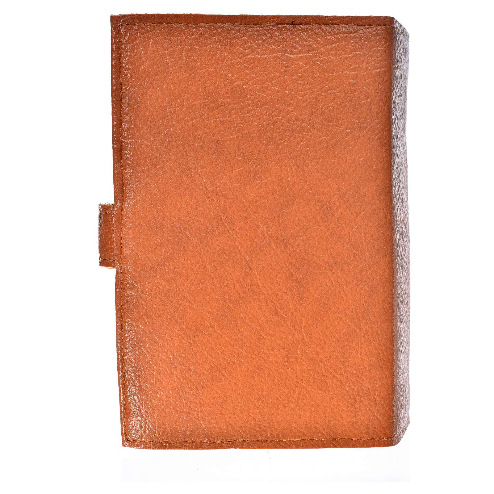 Funda Sagrada Biblia CEE ED. Pop. simil cuero marrón Virgen Niño 4