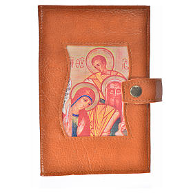 Funda Sagrada Biblia CEE ED. Pop. simil cuero marrón Virgen Niño s1