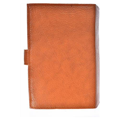 Funda Sagrada Biblia CEE ED. Pop. simil cuero marrón Virgen Niño 2