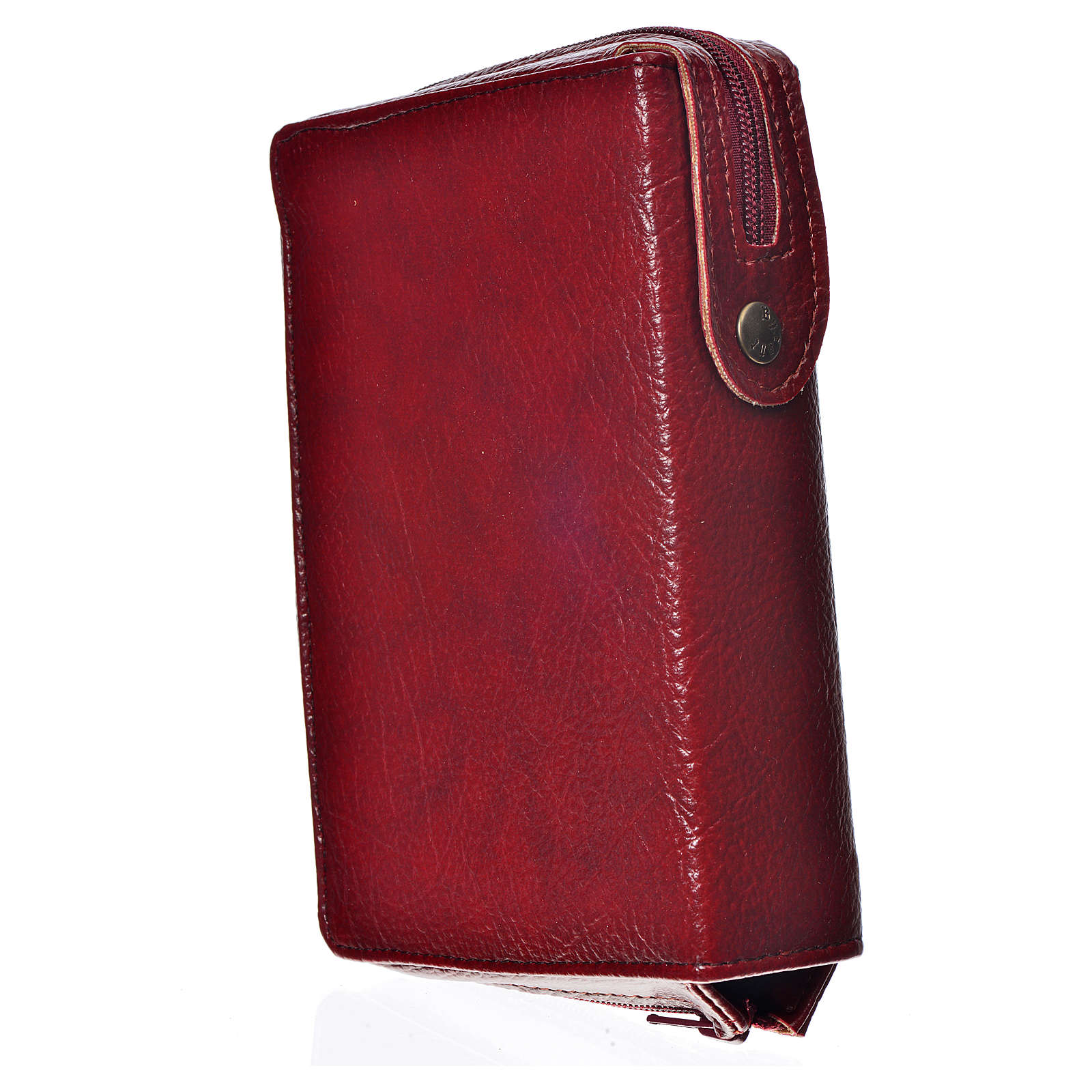 Funda Biblia CEE grande burdeos simil cuero S. Familia 4