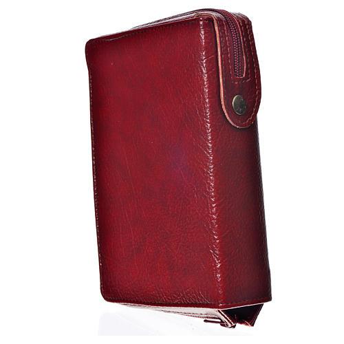 Funda Biblia CEE grande burdeos simil cuero S. Familia 2