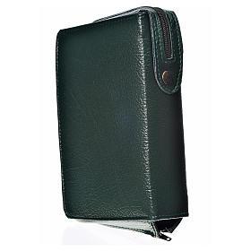 Funda Biblia CEE grande simil cuero verde Virgen s2