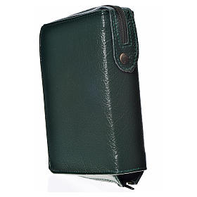 Funda Biblia CEE grande simil cuero verde Virgen de Kiko s2