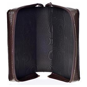 Funda Biblia CEE grande simil cuero marrón oscuro Virgen Ternura s3