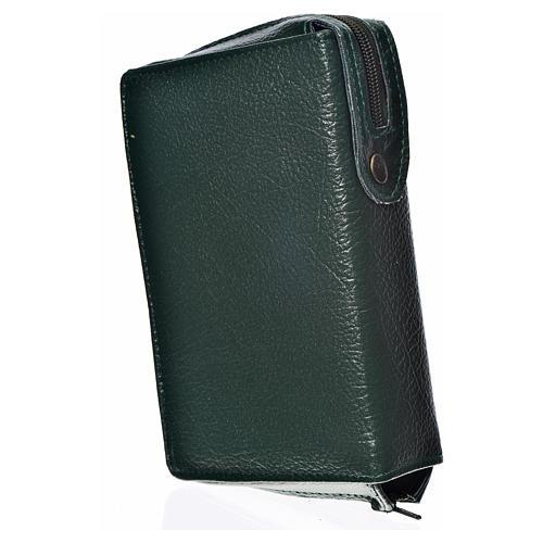 Funda Biblia CEE grande simil cuero verde S. Trinidad 2