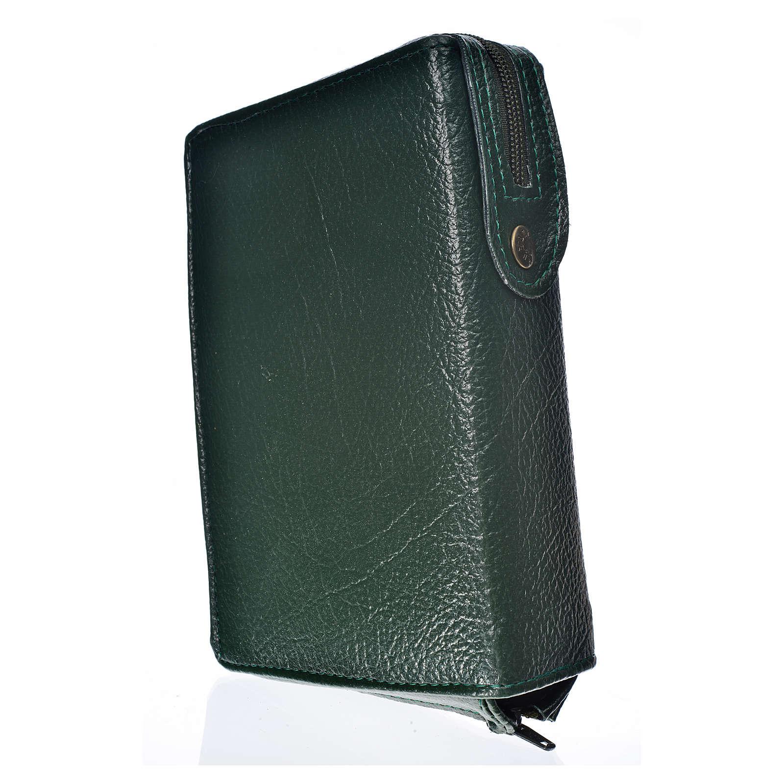 Funda Biblia CEE grande verde simil cuero S. Familia 4