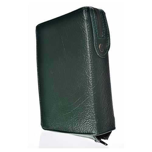 Funda Biblia CEE grande verde simil cuero S. Familia 2