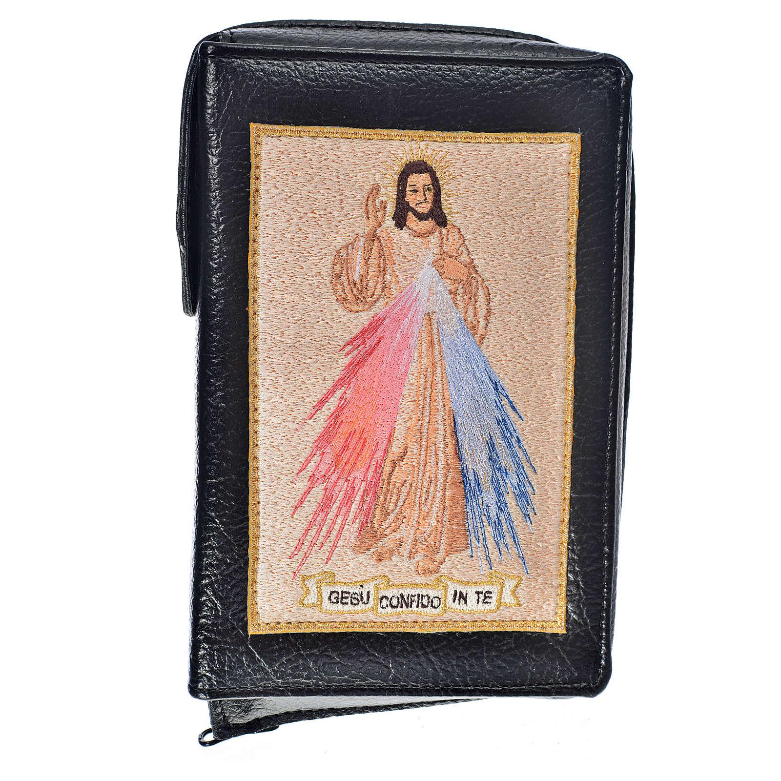 Funda Biblia CEE grande simil cuero negro Divina Misericordia 4