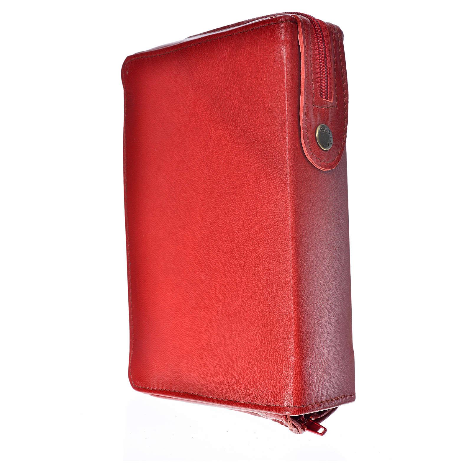 Funda Biblia CEE grande cuero burdeos Sagrada Familia 4