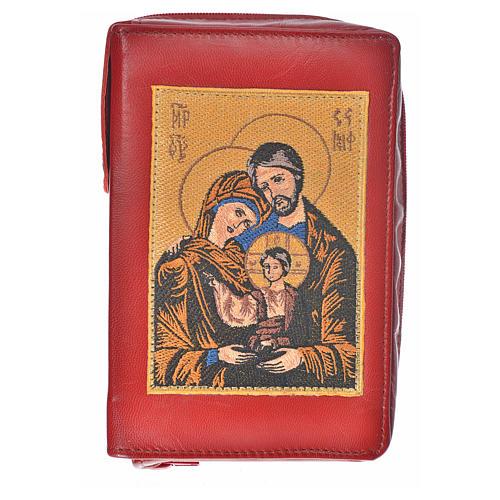 Funda Biblia CEE grande cuero burdeos Sagrada Familia 1