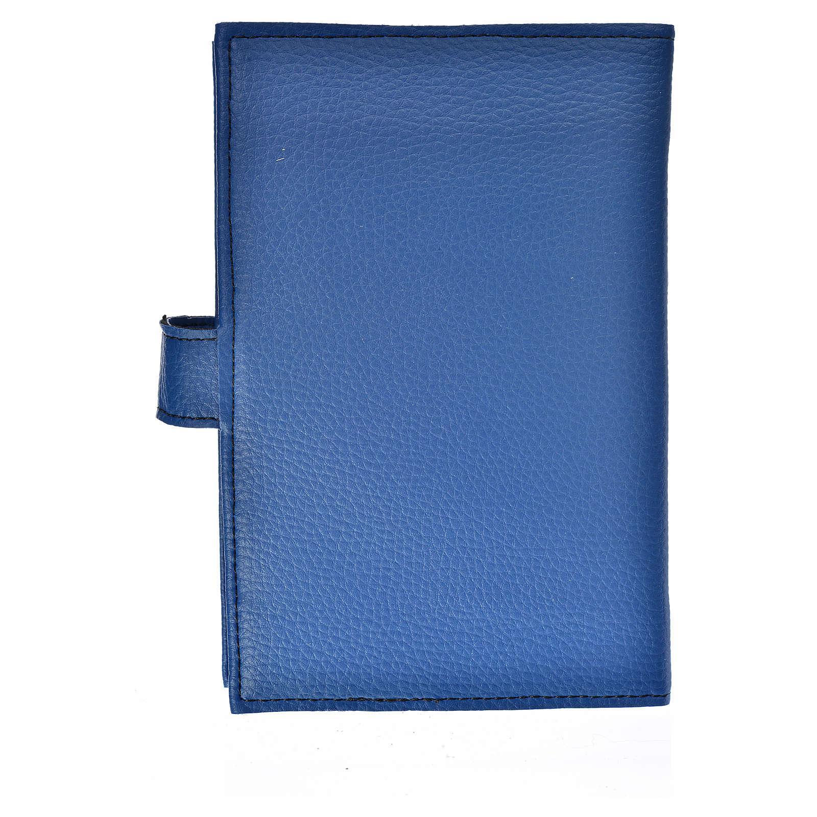 Funda Biblia CEE grande Virgen simil cuero Azul 4