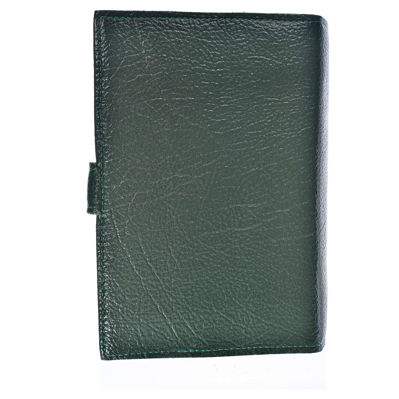Funda Biblia CEE grande Virgen T. simil cuero verde 4