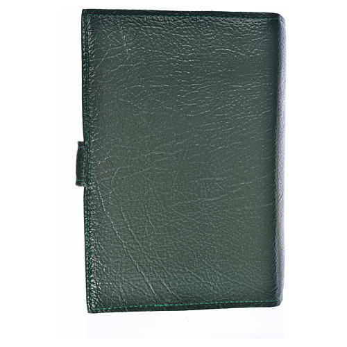 Funda Biblia CEE grande Virgen T. simil cuero verde 2