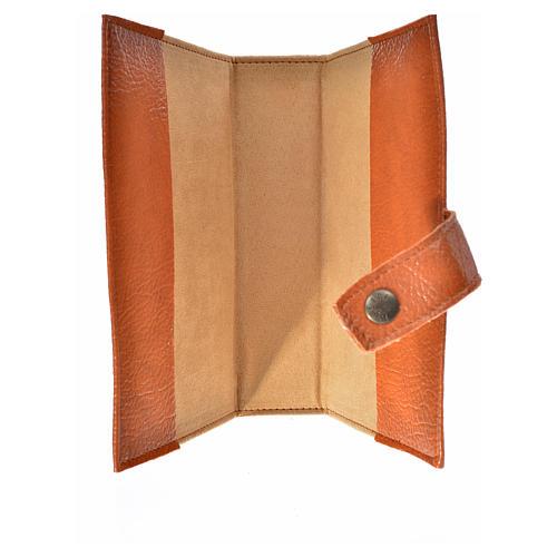 Funda Biblia CEE grande simil cuero marrón Trinidad 3