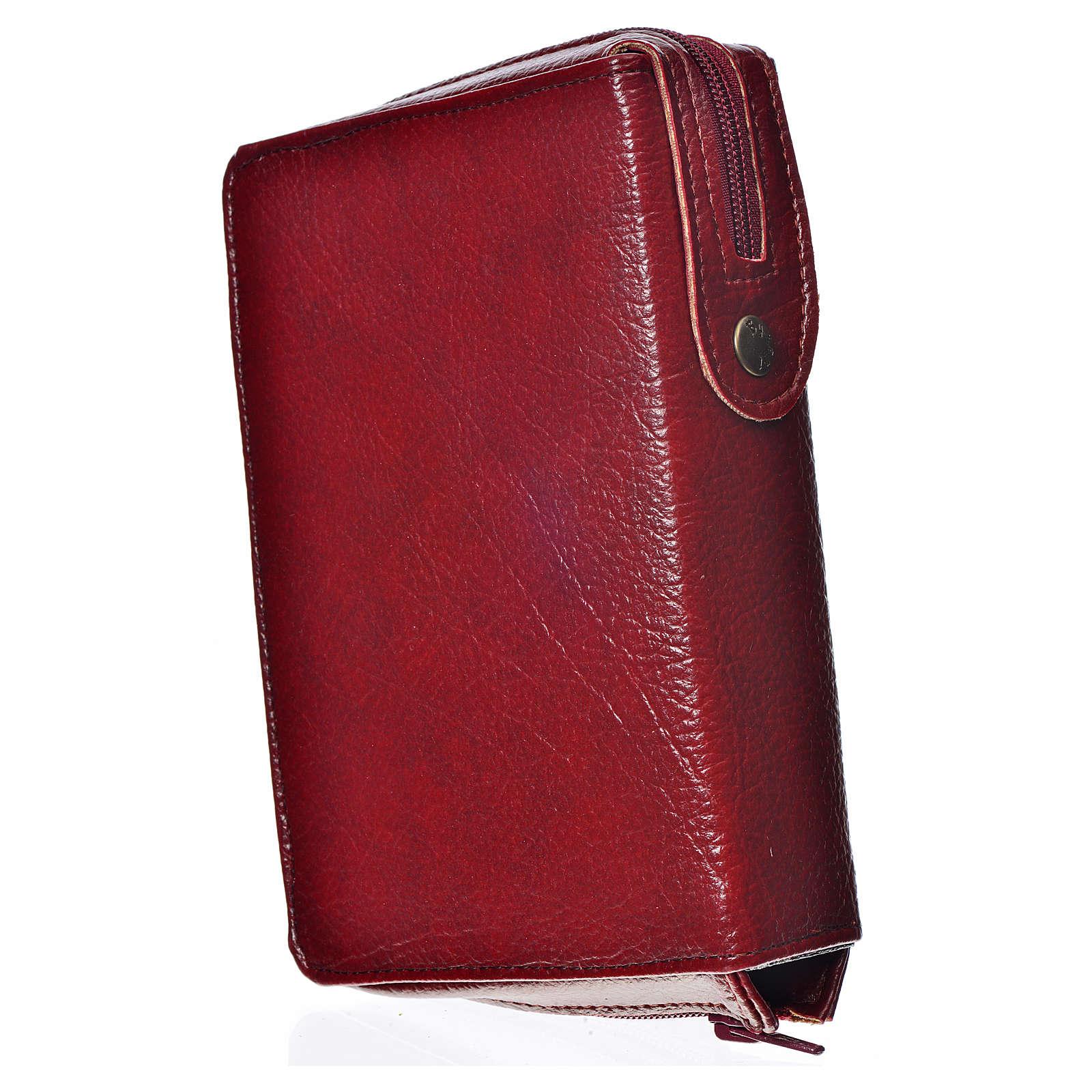 Funda Biblia Jerusalén Nueva Edición burdeos simil cuero Virgen 4