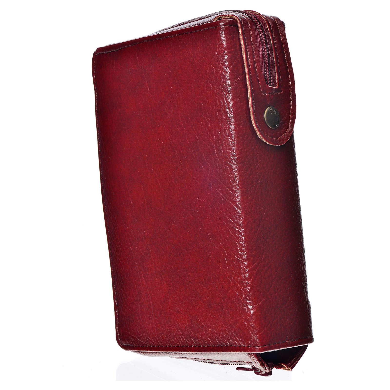 Funda Biblia Jerusalén Nueva Edición burdeos simil cuero Divina 4