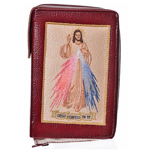 Funda Biblia Jerusalén Nueva Edición burdeos simil cuero Divina 1