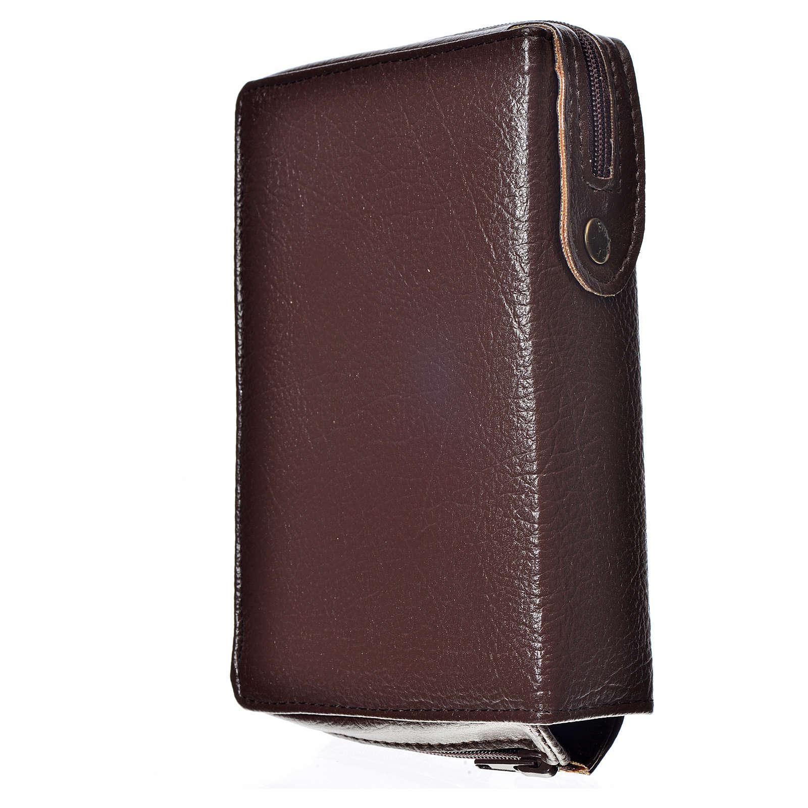 Funda Biblia Jerusalén Nueva Edición marrón simil cuero S. Famil 4