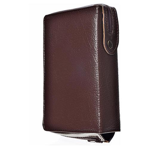 Funda Biblia Jerusalén Nueva Edición marrón simil cuero S. Famil 2