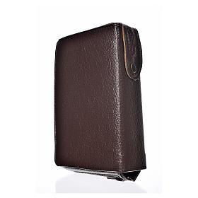 Funda Biblia Jerusalén Nueva Edición marrón oscuro simil cuero S s2