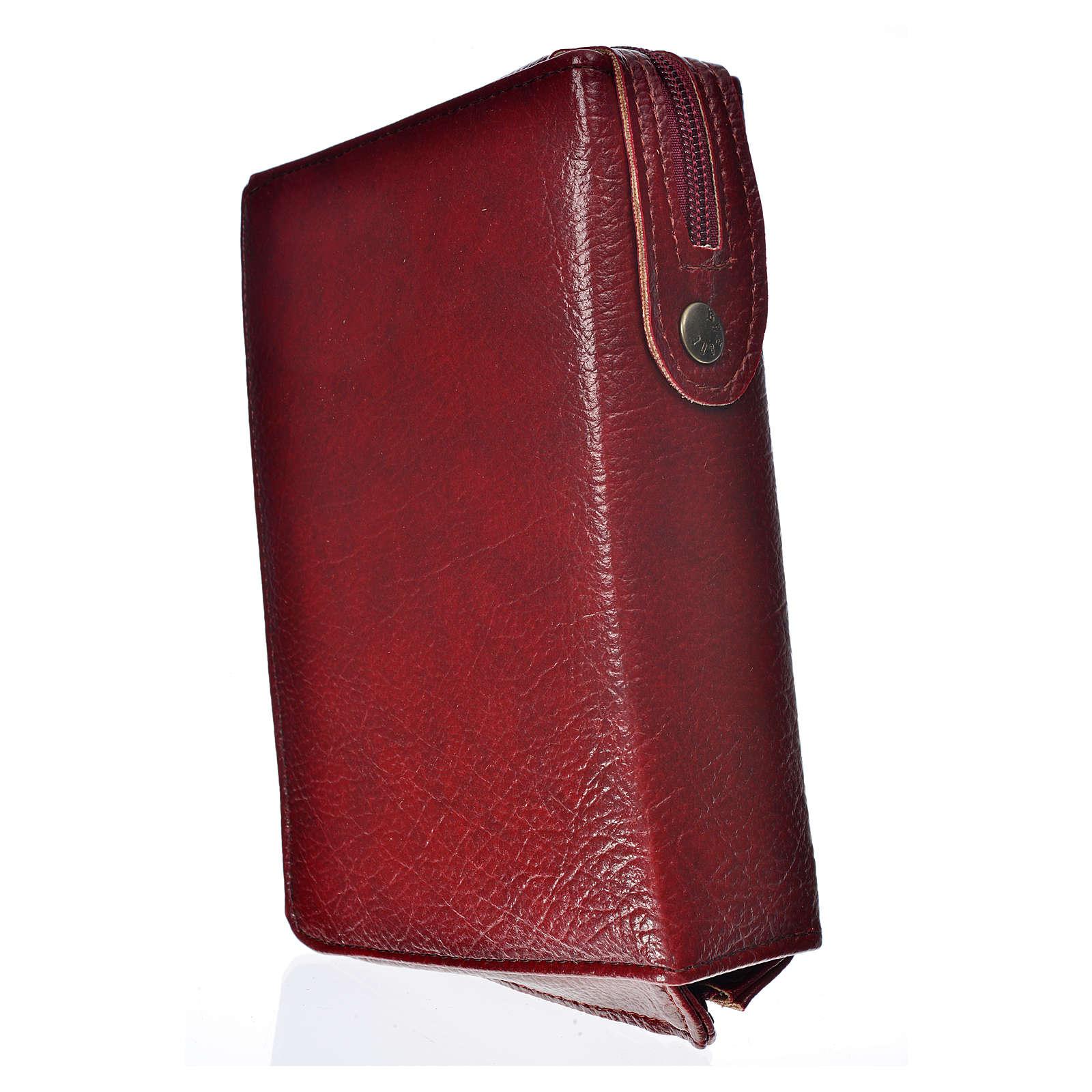 Funda Biblia Jerusalén burdeos simil cuero Santísima Trinidad 4