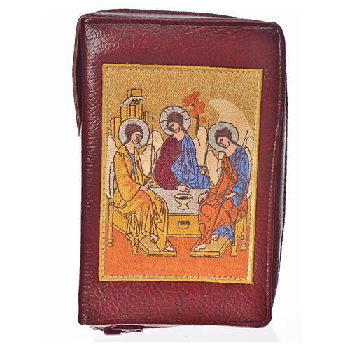 Funda Biblia Jerusalén burdeos simil cuero Santísima Trinidad 1