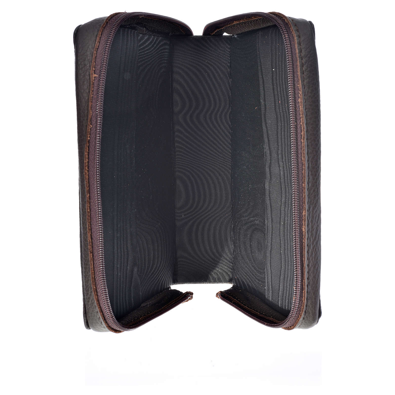Funda Biblia Jerusalén Nueva Ed. marrón oscuro cuero Pantocrátor 4