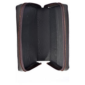 Funda Biblia Jerusalén Nueva Ed. marrón oscuro cuero Pantocrátor s3
