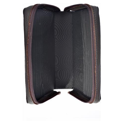 Funda Biblia Jerusalén Nueva Ed. marrón oscuro cuero Pantocrátor 3