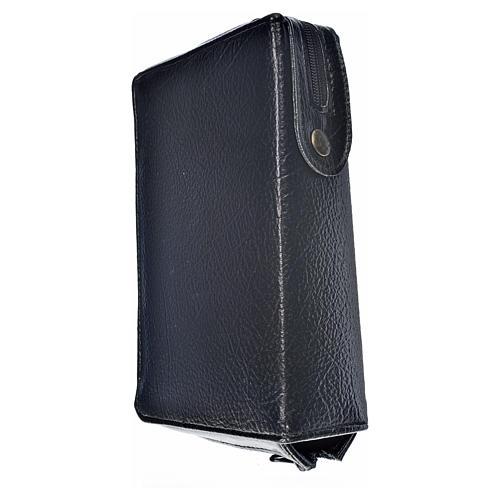 Funda Biblia Jerusalén Nueva Ed. negro simil cuero Virgen Niño 2