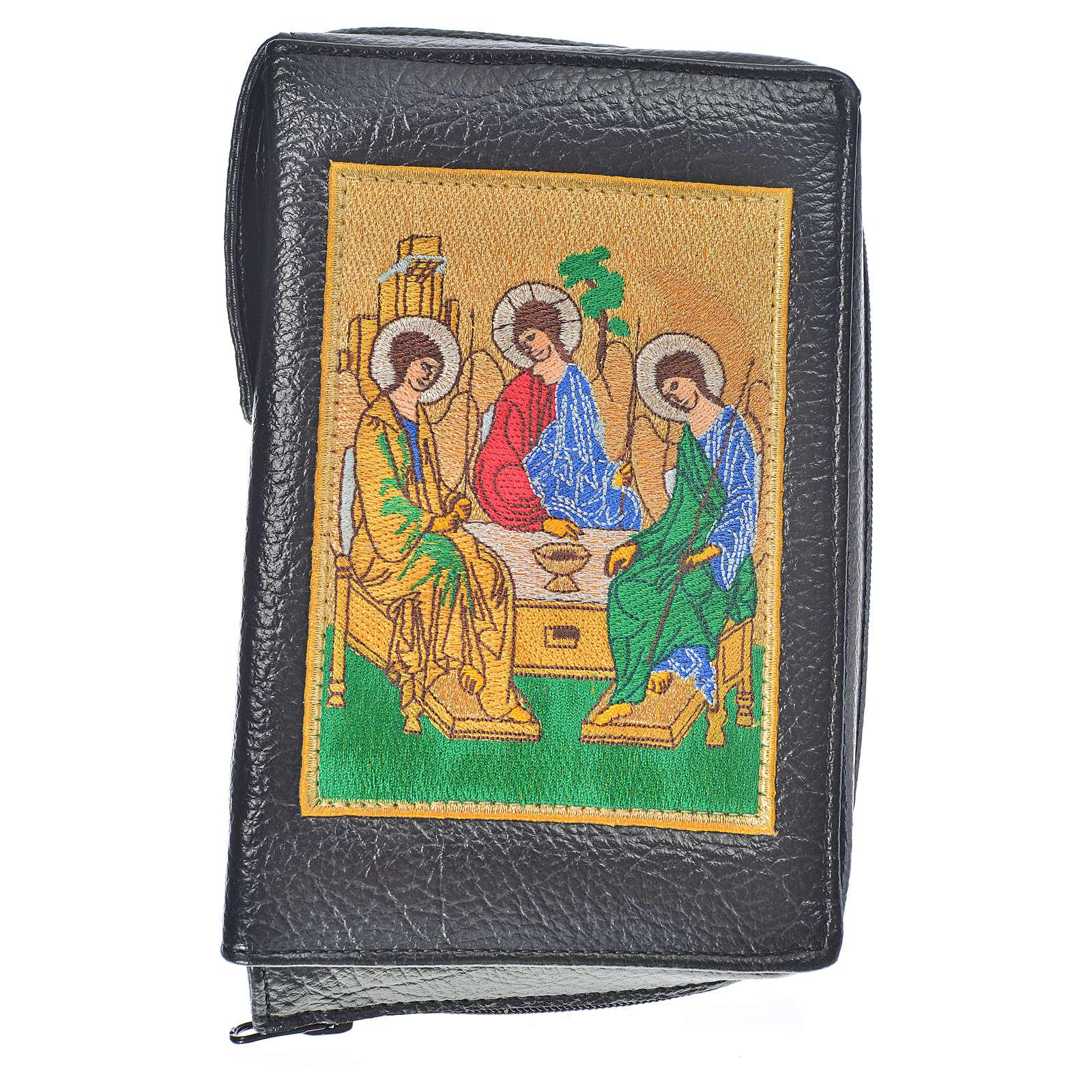 Funda Biblia Jerusalén Nueva Ed. negro simil cuero S. Trinidad 4