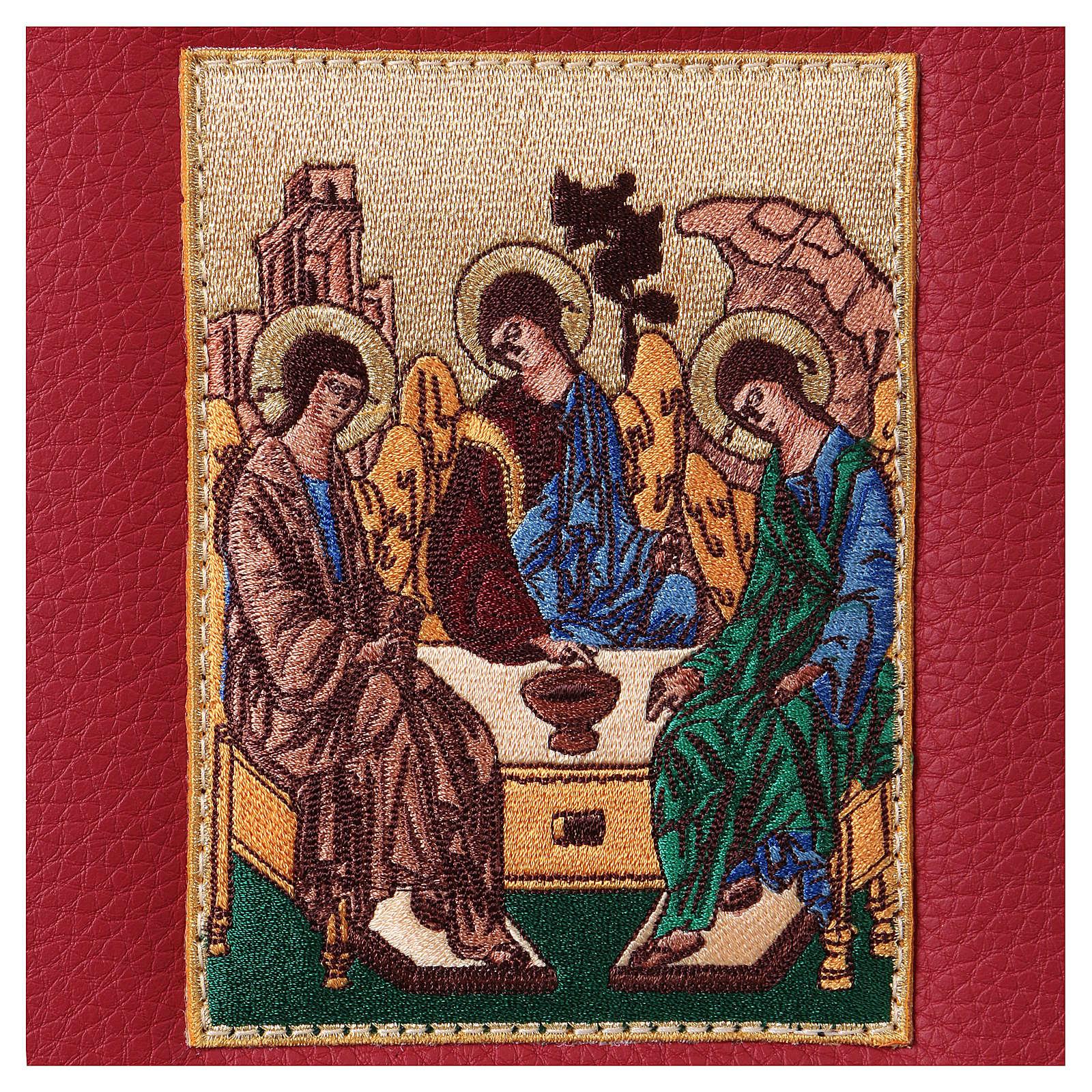 Funda Biblia Jerusalén Nueva Ed. cuero burdeos SS. Trinidad 4