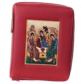 Funda Biblia Jerusalén Nueva Ed. cuero burdeos SS. Trinidad s1
