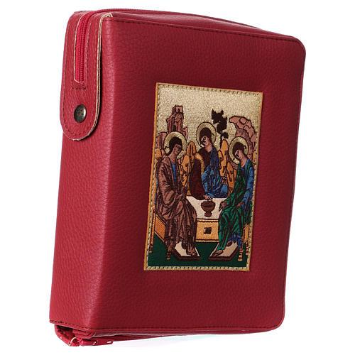 Funda Biblia Jerusalén Nueva Ed. cuero burdeos SS. Trinidad 3