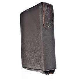 Funda Biblia Jerusalén Nueva Ed. marrón oscuro piel Sagrada Familia s2